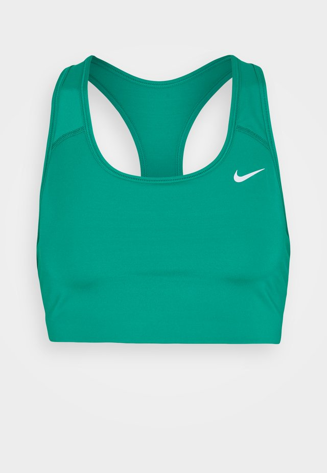 NON PADDED BRA - Medium support sports bra - neptune green/white