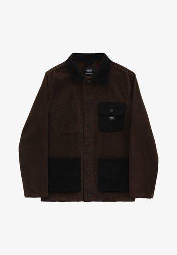 MN DRILL CHORE - Summer jacket - demitasse/black