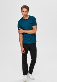 Selected Homme - T-shirt imprimé - teal - 1