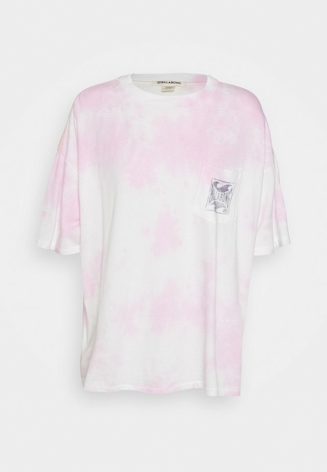 ROUGH WAVES - Camiseta estampada - rose dawn