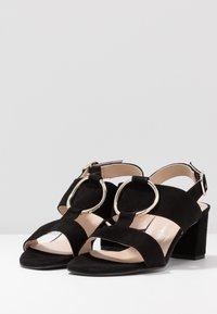 Brenda Zaro Wide Fit - WIDE FIT POLAR NEW - Sandals - black - 4