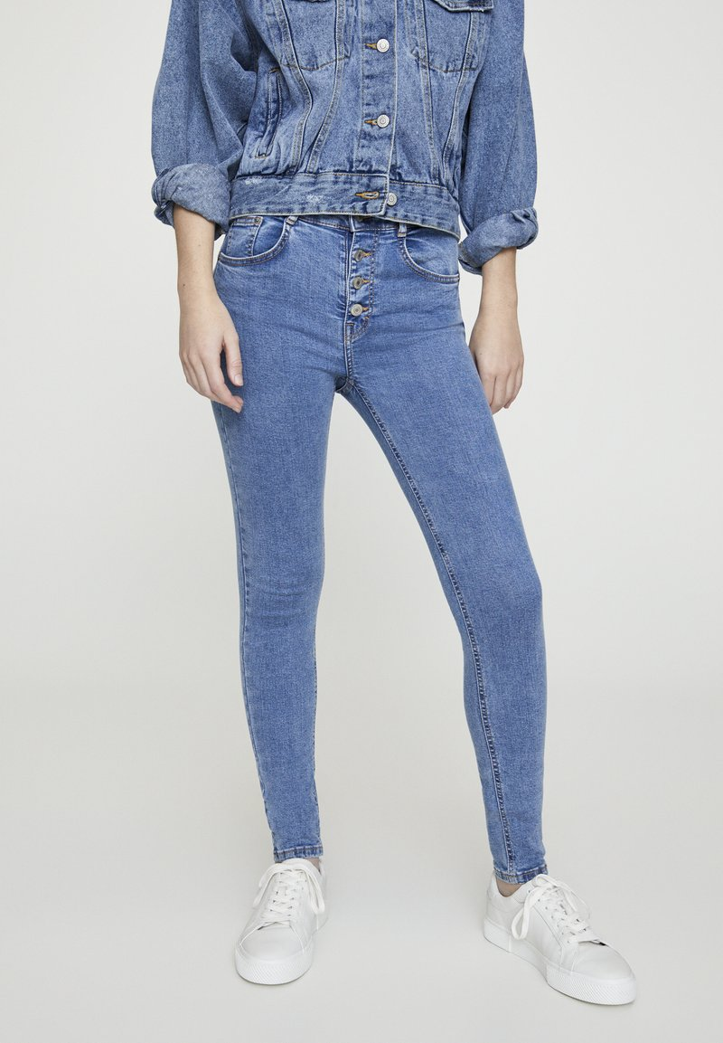 PULL&BEAR - Jeans Skinny Fit - blue denim