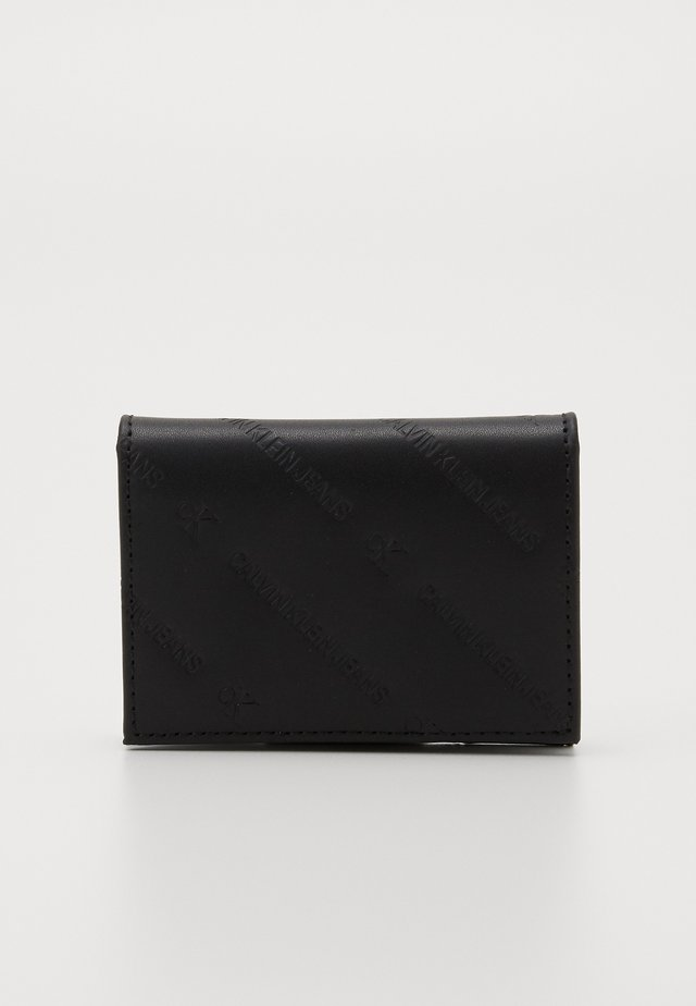 DIAGONAL MONOGRAM FOLD - Wallet - black