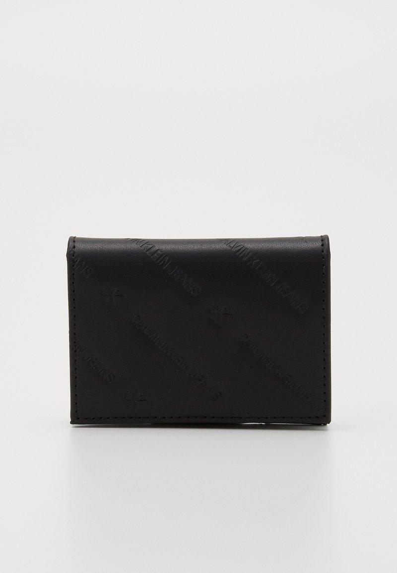 Calvin Klein Jeans - DIAGONAL MONOGRAM FOLD - Wallet - black
