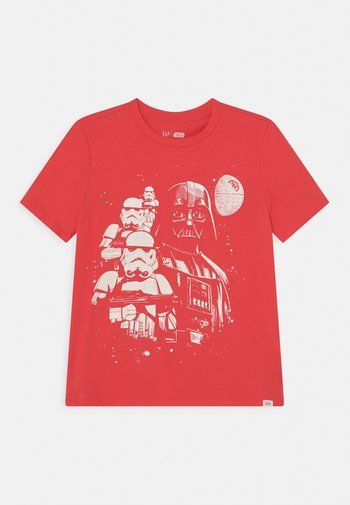 STAR WARS BOYS TEE - Print T-shirt - hula red