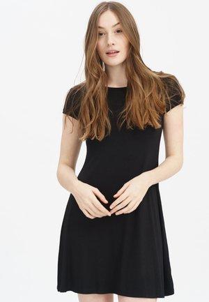PAMELA - Jersey dress - black
