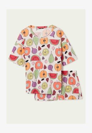 MIT FRÜCHTEPRINT - Pyjama set - u - rosa nuvola st.fruit mix