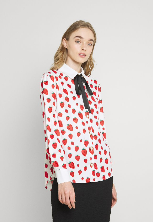 STRAWBERRY COURT BOW SHIRT - Button-down blouse - red