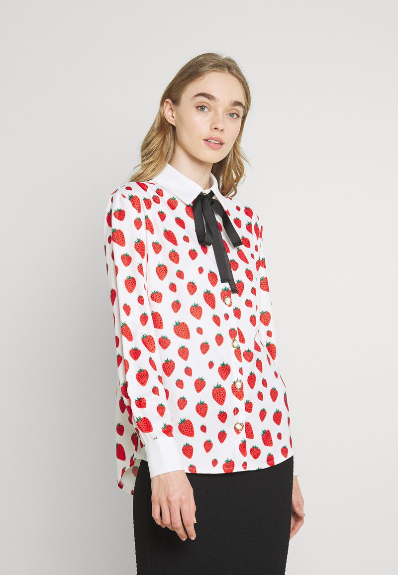 Sister Jane - STRAWBERRY COURT BOW SHIRT - Button-down blouse - red