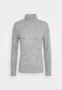 Pieces - PCPAM HIGH NECK - Jumper - light grey melange - 4
