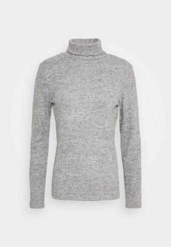 PCPAM HIGH NECK - Jumper - light grey melange