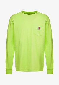 Carhartt WIP - POCKET  - Long sleeved top - lime - 4