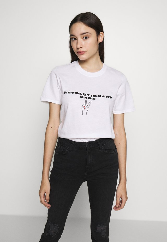 EXCLUSIVE REVOLUTIONARY BABE - T-shirts print - white