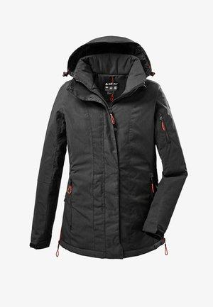DAMEN FUNKTIONS MIT ABZIPPBARER KAPUZE - Outdoor jacket - schwarz