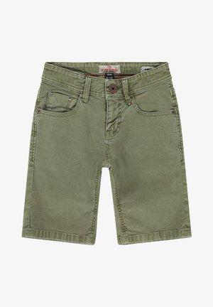 CHARLIE - Denim shorts - army green