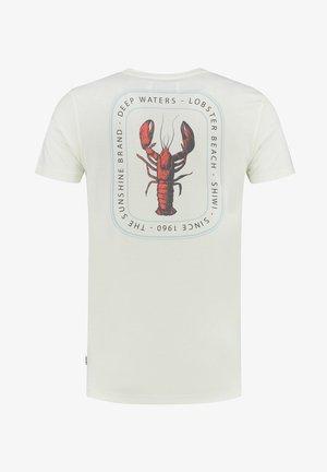 LOBSTER - T-shirt z nadrukiem - white antique
