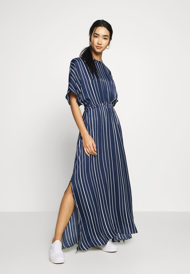 EDIT MAXI DRESS - Maxi dress - navy stripe