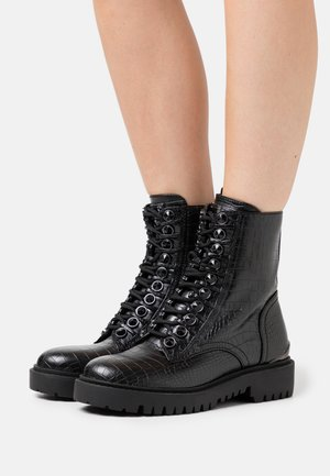 OXANA - Bottines à lacets - black