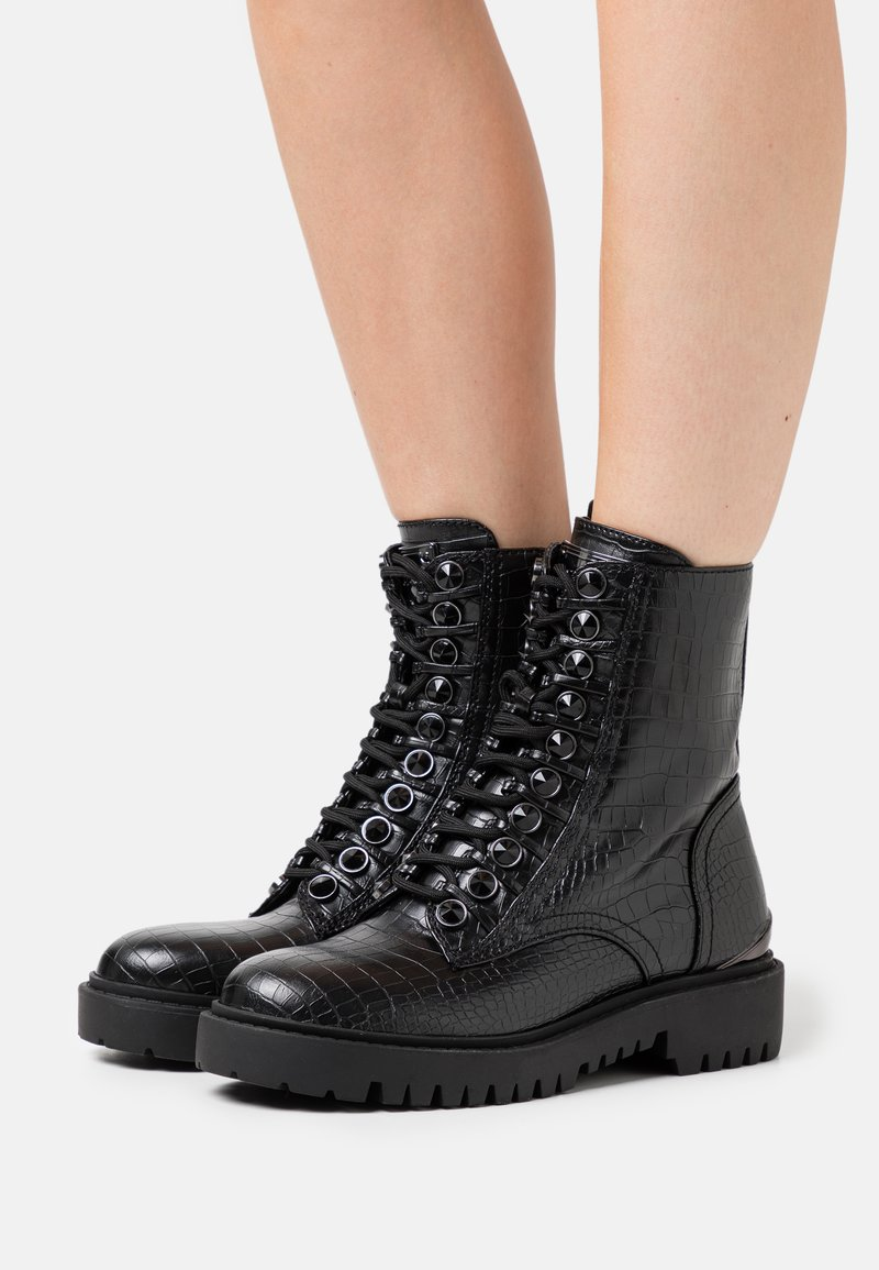 Guess - OXANA - Lace-up ankle boots - black