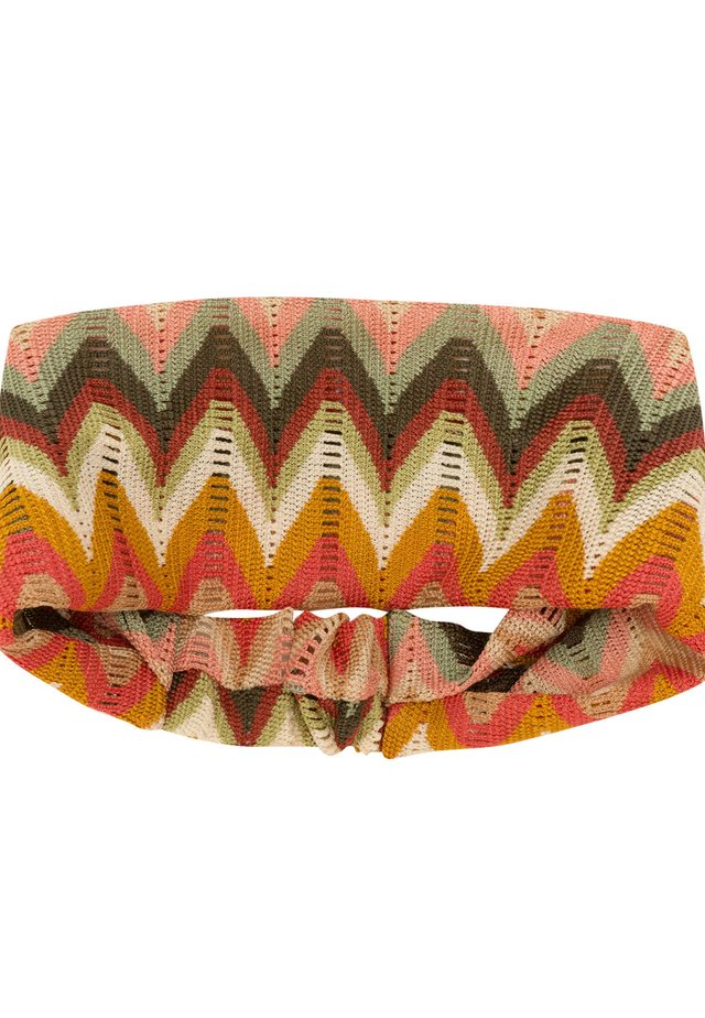 MIT ZICKZACKMUSTER - Hair styling accessory - multi-coloured
