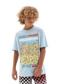 Vans - Print T-shirt - light blue - 0