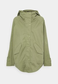 Marc O'Polo - CAPE FIX HOOD - Short coat - dried sage - 0
