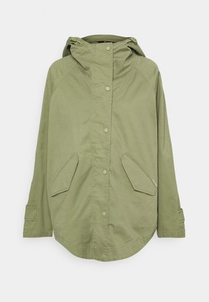 CAPE FIX HOOD - Cappotto corto - dried sage