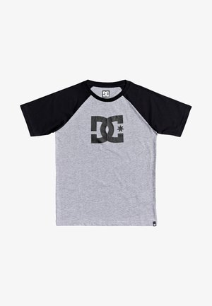 T-shirt print - grey heather/black