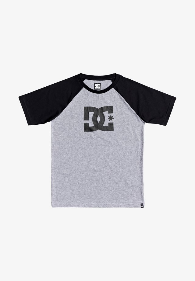 Print T-shirt - grey heather/black