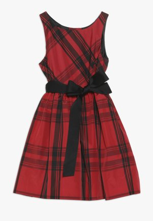 PLAID TAFFET DRESSES - Cocktail dress / Party dress - red/black