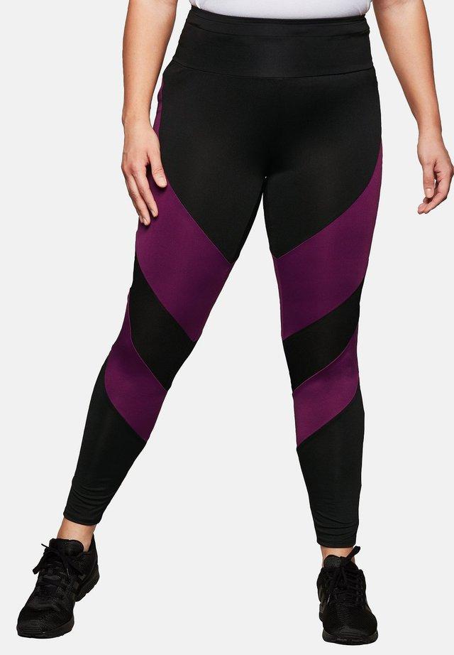 Leggings - black\purple