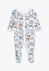 Carter's - BABY INTERLOCK TRUCKS - Pyjamas - white - 0