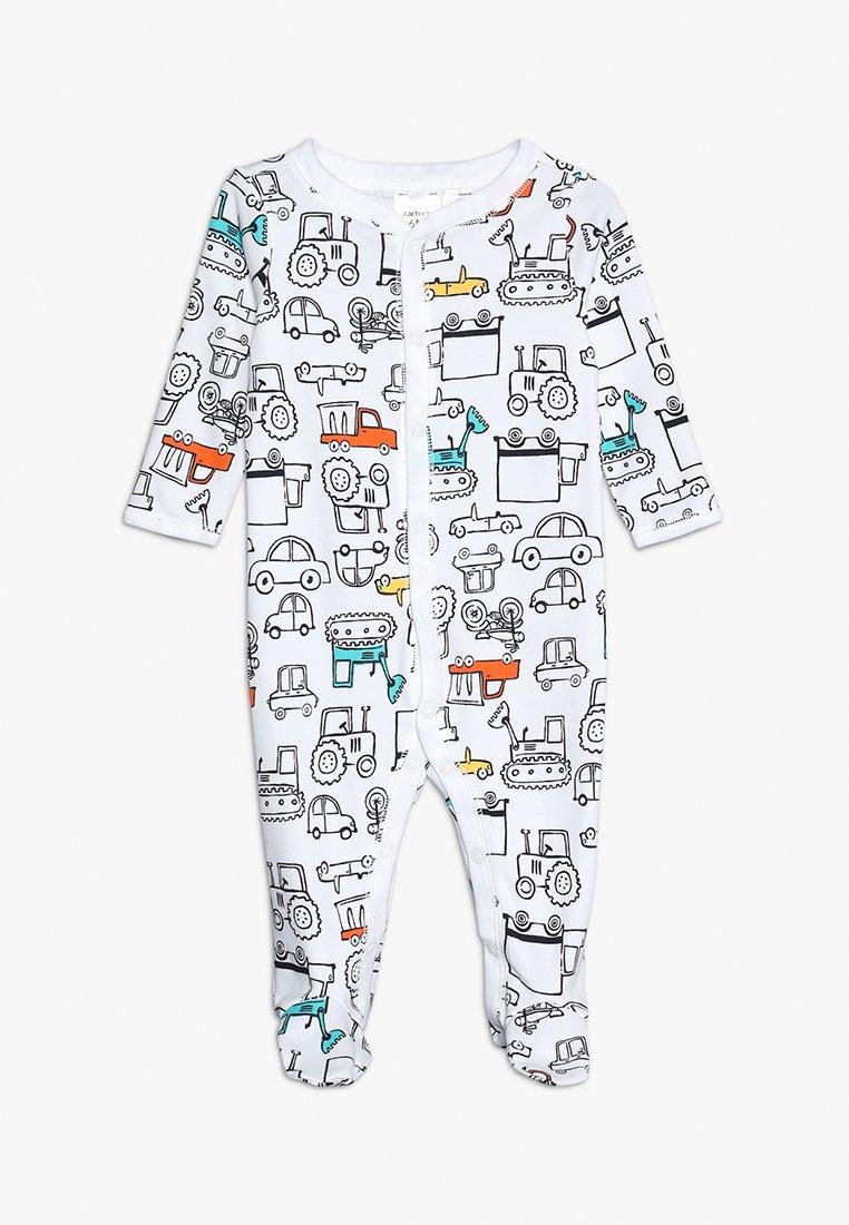 Carter's - BABY INTERLOCK TRUCKS - Pyjamas - white
