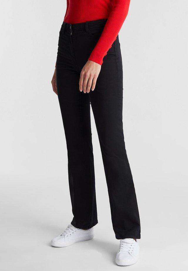 MIT ORGANIC COTTON - Bootcut jeans - black