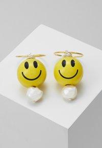 WALD - SMILIE DUDE EARRING 3 PACK - Earrings - yellow - 0