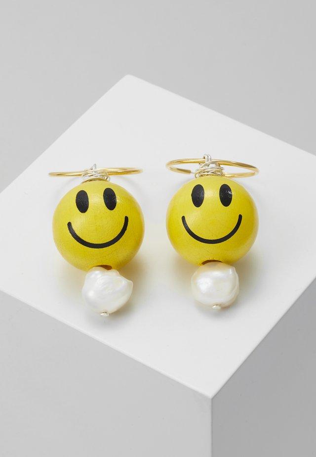 SMILIE DUDE EARRING 3 PACK - Oorbellen - yellow