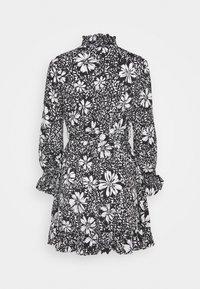 New Look Petite - DAISY PRINT TIE WAIST MINI - Day dress - black pattern - 1