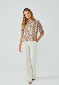 Aaiko - TACIANA ZEBRA - Button-down blouse - root brown dessin - 1