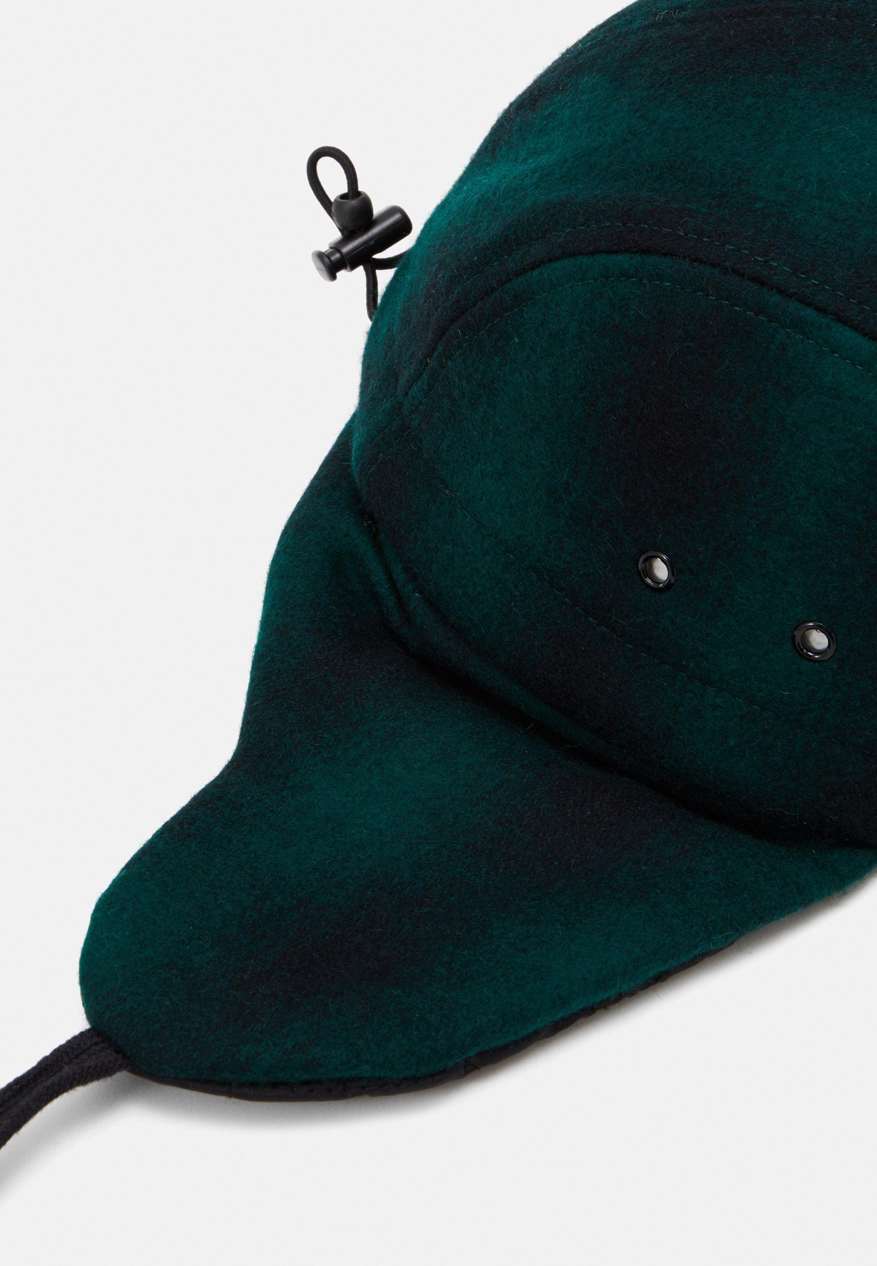Lil'Boo BLOCK PANEL EARS - Cap - green/black/grønn RkvGcvvZG2woM7Q