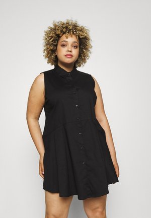 STRETCH SLEEVELESS FIT AND FLARE SHIRT - Top - black
