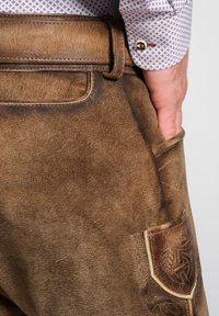 Spieth & Wensky - Leather trousers - brown - 2