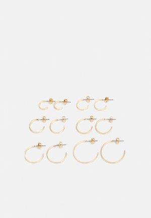 PCSANNY HOOP EARRINGS 6 PACK - Øredobber - gold-coloured