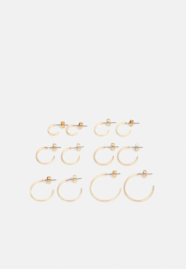PCSANNY HOOP EARRINGS 6 PACK - Örhänge - gold-coloured