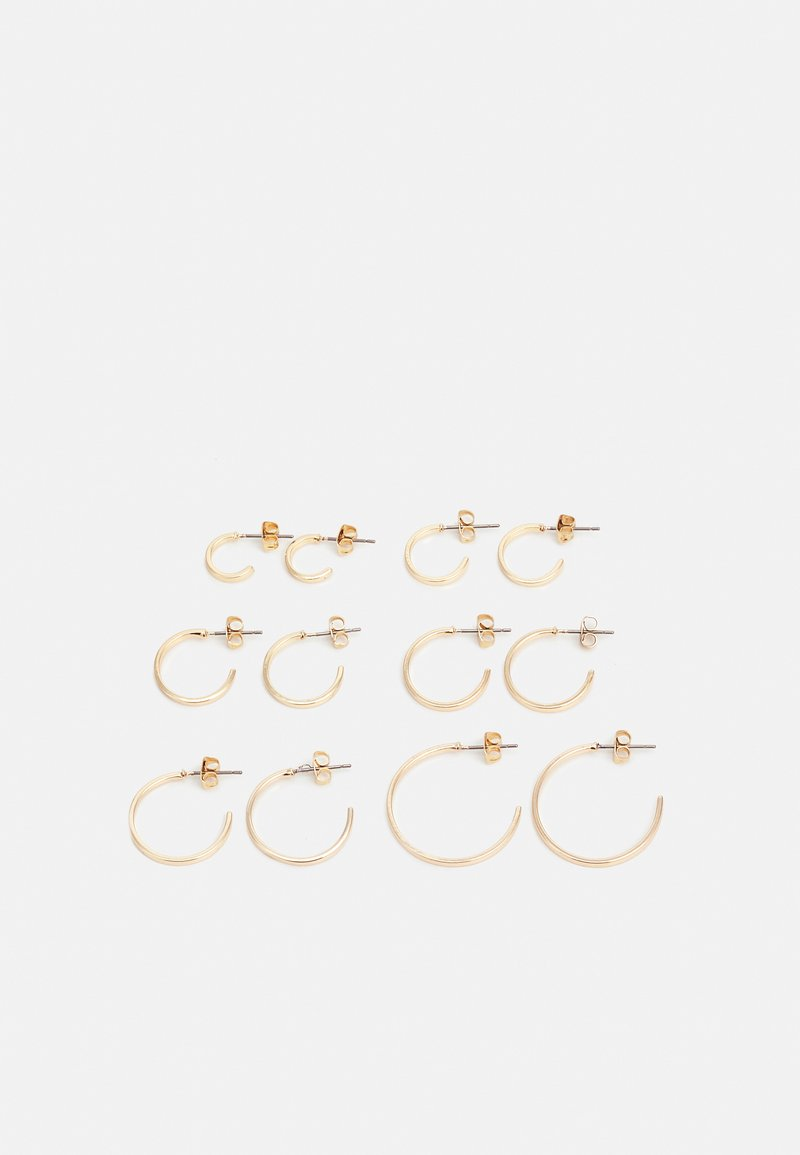 Pieces - PCSANNY HOOP EARRINGS 6 PACK - Earrings - gold-coloured
