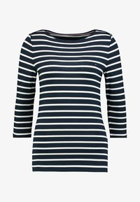 Tommy Hilfiger - HERITAGE BOAT NECK TEE 3/4 - Long sleeved top - midnight/classic white - 3