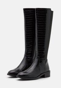 New Look - PLAIN STRETCH BACK  - Vysoká obuv - black - 2