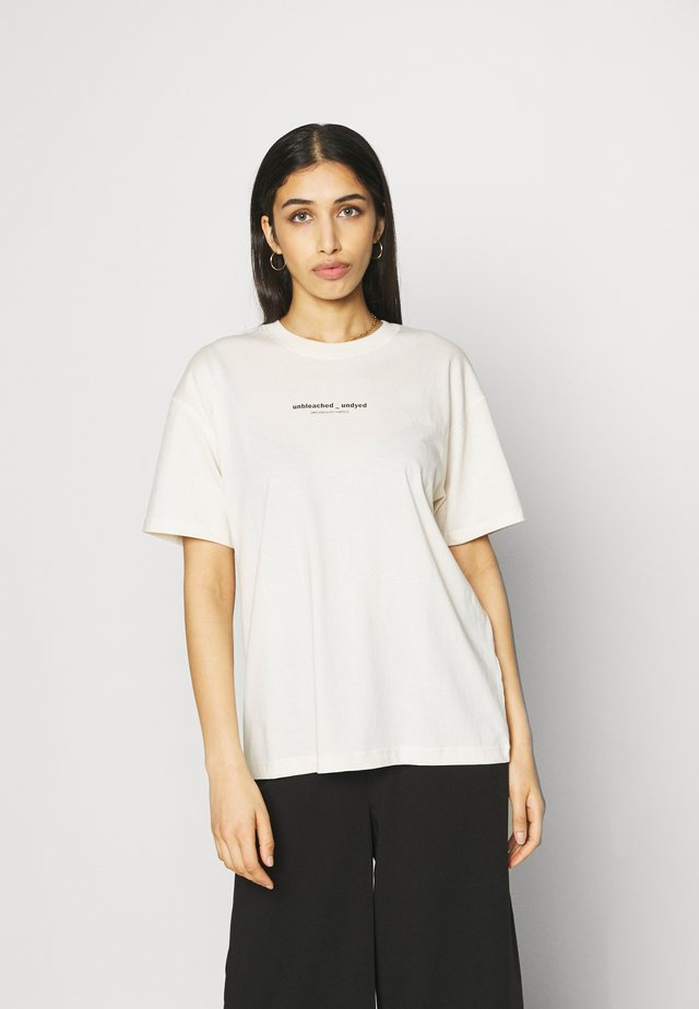 ENKULLA TEE - T-shirt con stampa - beige