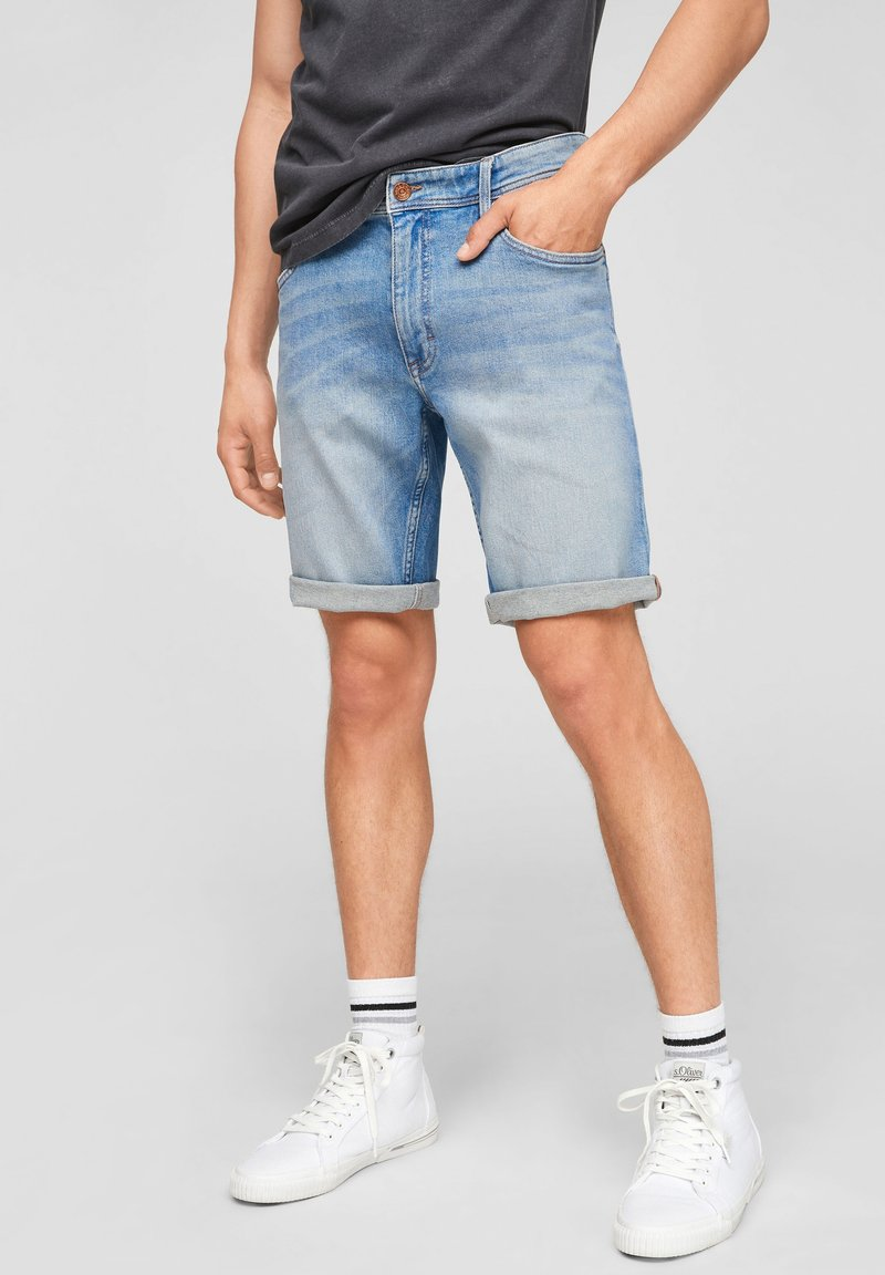 Q/S designed by - Jeans Shorts - light blue