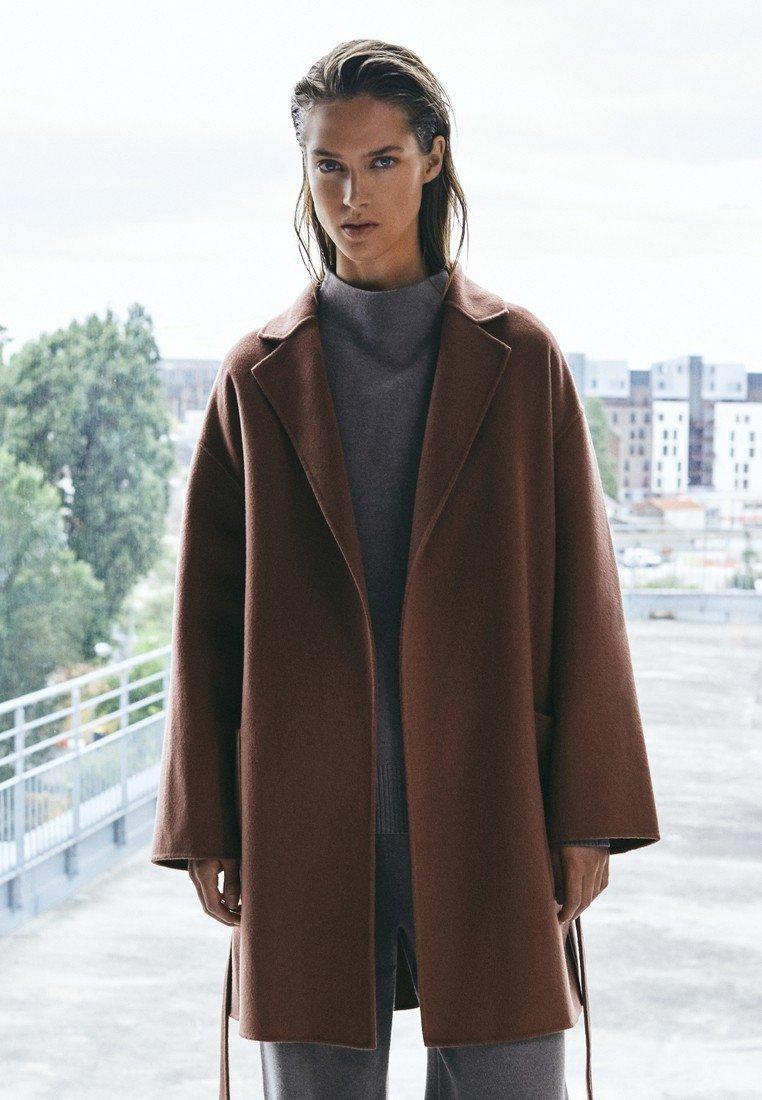 Massimo Dutti - Classic coat - light brown