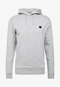 grey melange/dark navy
